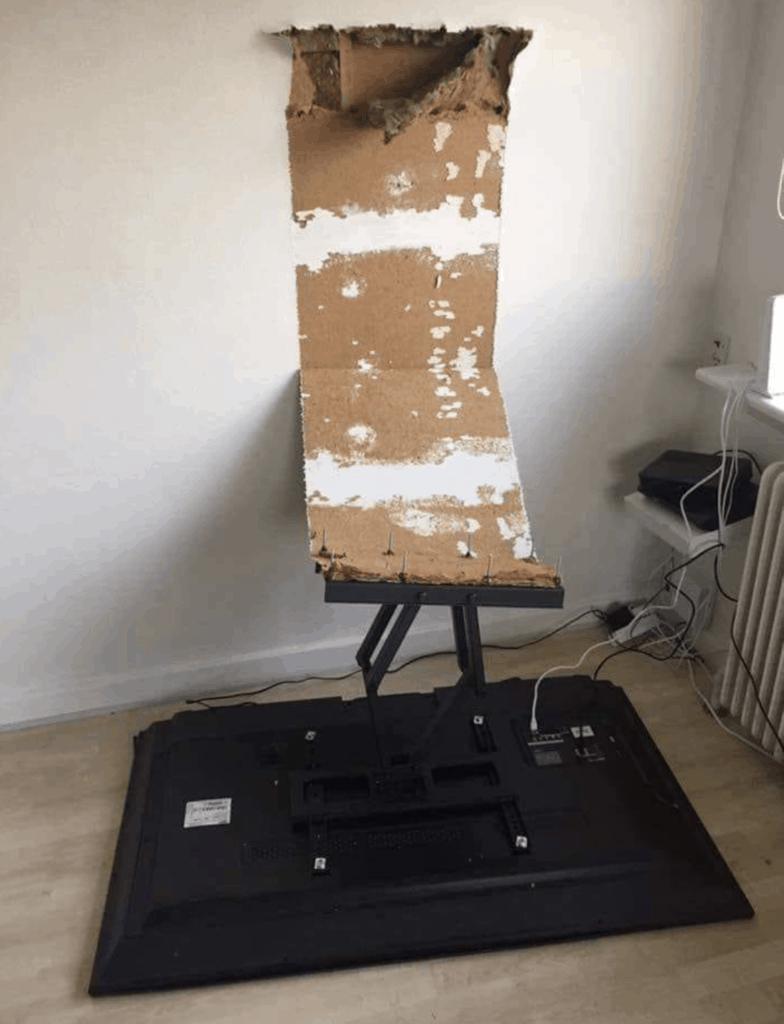 TV fallen off wall